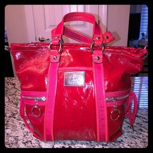 Rare Coach Style! Poppy Spotlight in Red Patent